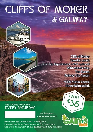 Gaby's Tour - Cliffs of Moher & Galway 300x424